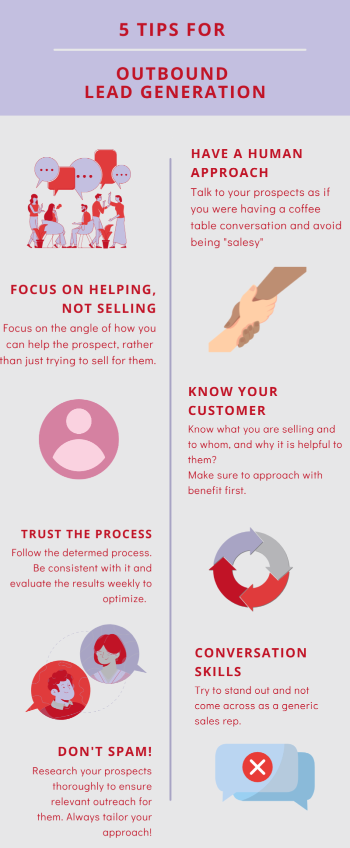Lead generation for SaaS tips infographic